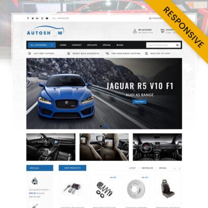 Auto Show - Auto Parts Store OpenCart Theme