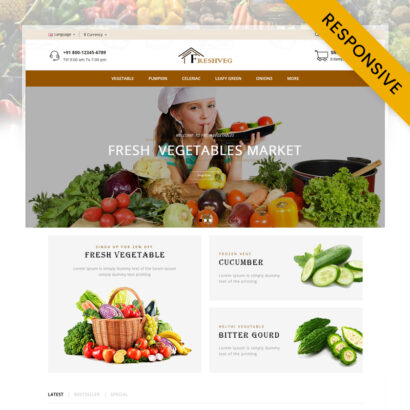 FreshVeg - Vegetable Store OpenCart Theme