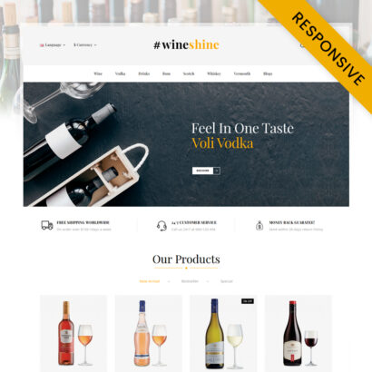 Wine Shine Store OpenCart Theme