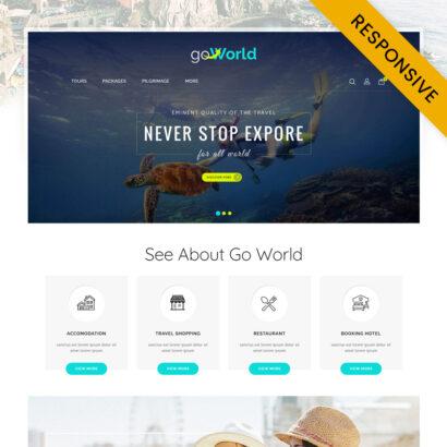 Go World - Travel Store OpenCart Theme