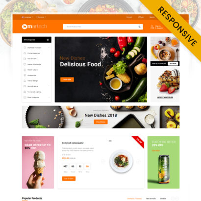 Martech Food Store OpenCart Theme
