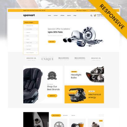 Spareart - Automobile Store OpenCart Theme
