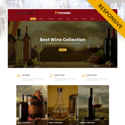 PeriWinkle - Wine Store OpenCart Theme