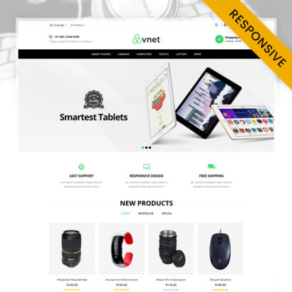Avnet Electronics Store OpenCart Theme