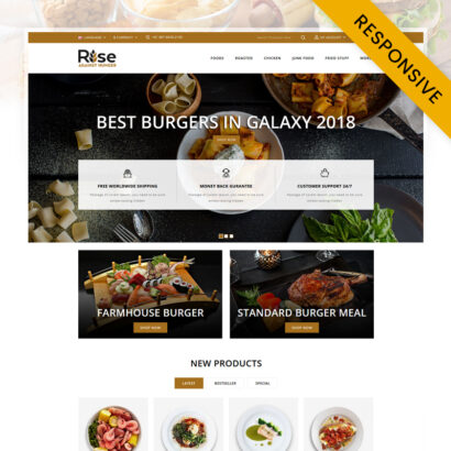RISE - Food Store OpenCart Theme