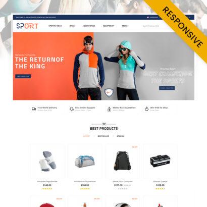 Sports Store OpenCart Theme