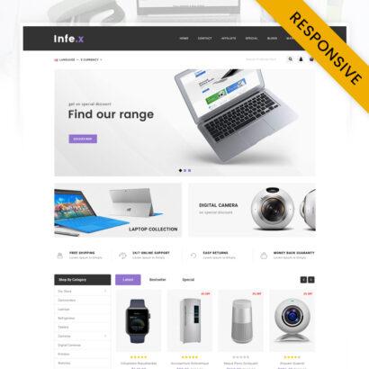 Infex - Electronics Store OpenCart Theme