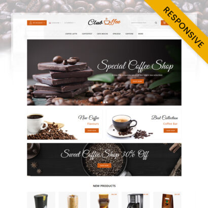 Club Coffee Shop OpenCart Theme