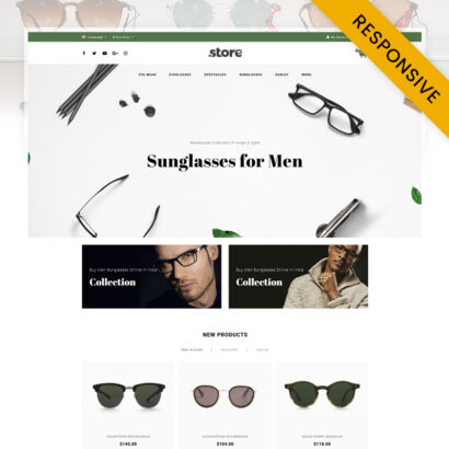 Eye Wear - Glasses Store OpenCart Theme