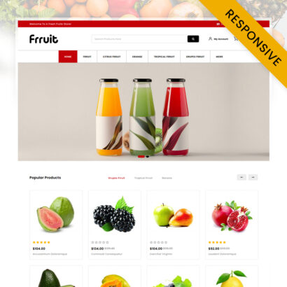 Fresh Fruits Store OpenCart Theme