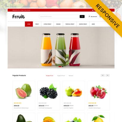 Fresh Fruits Store OpenCart Theme