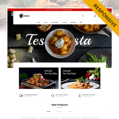 Food Square - Restaurant Store OpenCart Theme