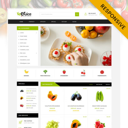 Guice Grocery Store OpenCart Theme