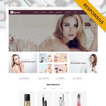 Elegant Cosmetic Store OpenCart Theme