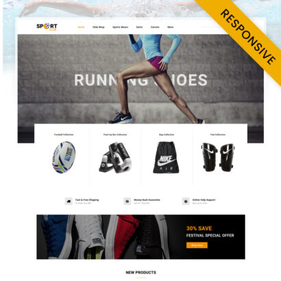 Sport Club - Accessories Store OpenCart Theme