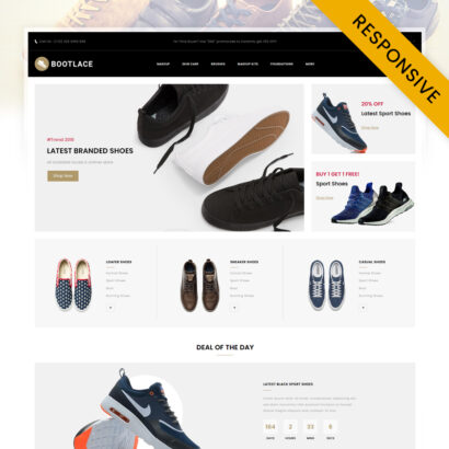 Bootlace Shoes Store OpenCart Theme