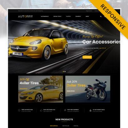 Autorry - Auto Parts Store OpenCart Theme