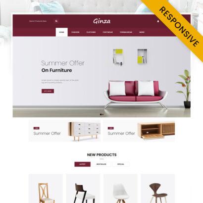 Ginza - Furniture Store OpenCart Theme