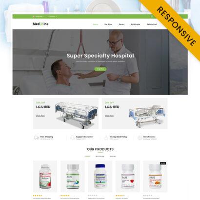 Medxine - Drugs Store OpenCart Theme