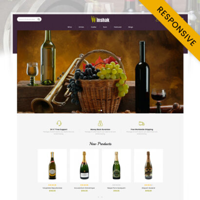 Winshak - Wine Store OpenCart Theme