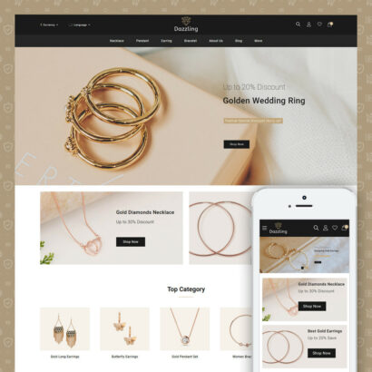 Dazzling - Golden Jewelry Store Prestashop Theme