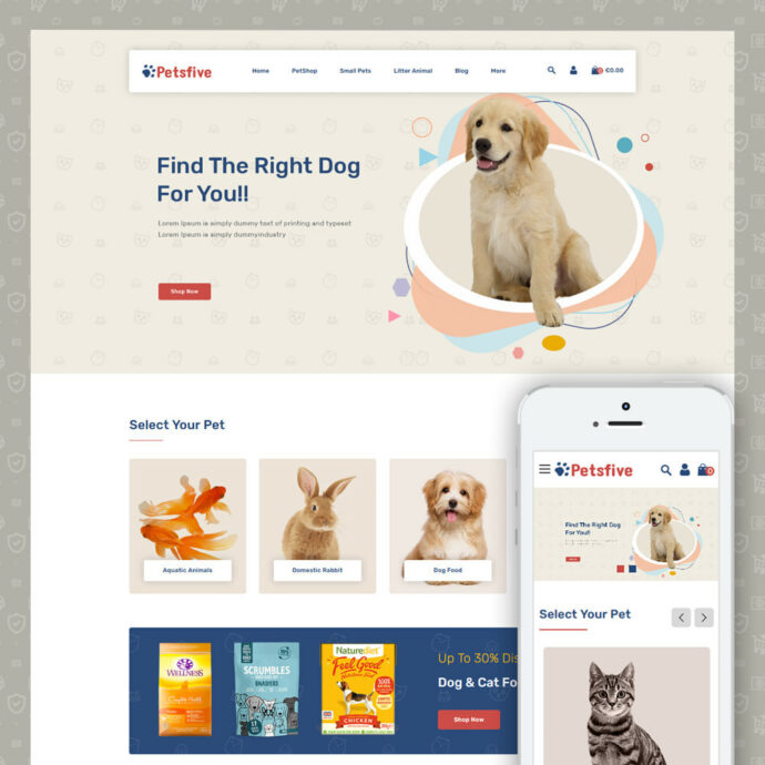 Petsfive - Pet & Animal Store Prestashop Theme