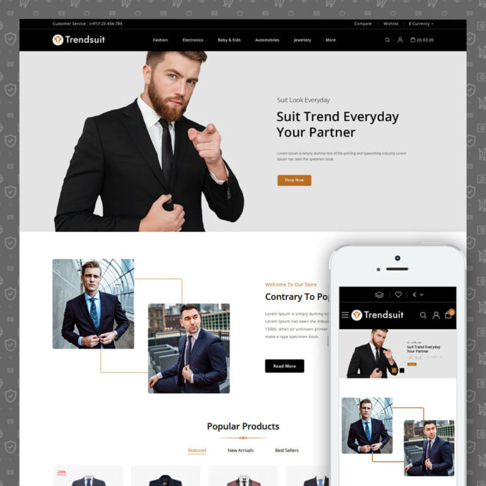 Trendsuit - Suits & Blazers Store Prestashop Theme