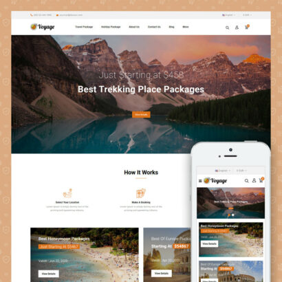 Voyage - Travels Store Prestashop Theme
