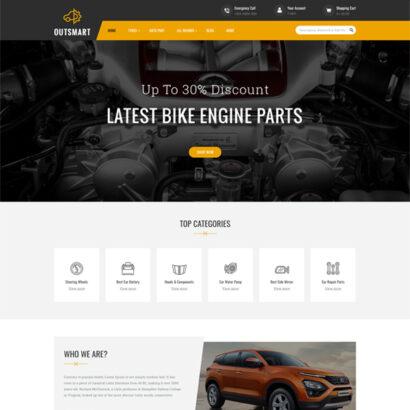 OutSmart - Auto Parts Store Prestashop Theme