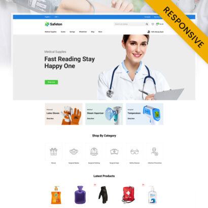 Safeton - Medical Store Prestashop Theme
