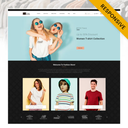 Cryline Tshirts store Prestashop Theme