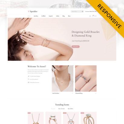 Sparkler - Jewelry Store Opencart Theme