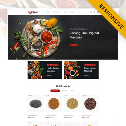 Royal Spice Store Opencart Responsive Theme