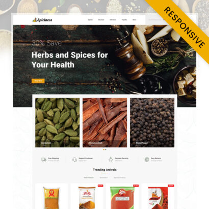 Spiciness - Spice Food Store Opencart Theme
