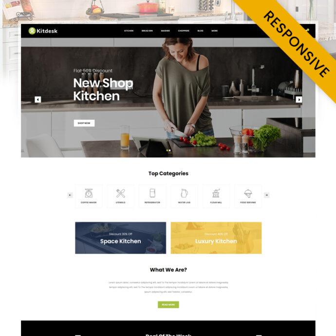 Kitdesk - Kitchen Appliance Prestashop Theme