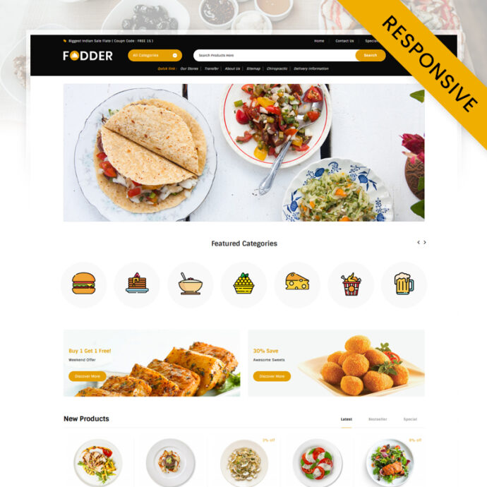 Fodder - Food and Restaurant Store WooCommerce Theme