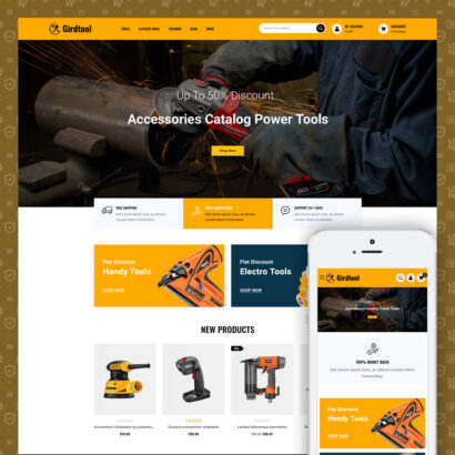 Gridtool - Hand Tool Store Prestashop Theme