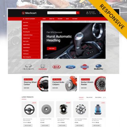 Mechcart AutoParts Store Prestashop Responsive Theme