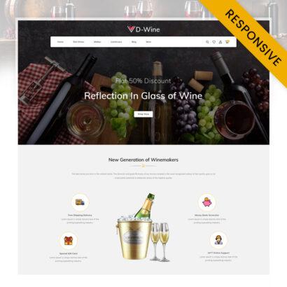 DWine - Best Wine Shop Prestashop Responsive Template