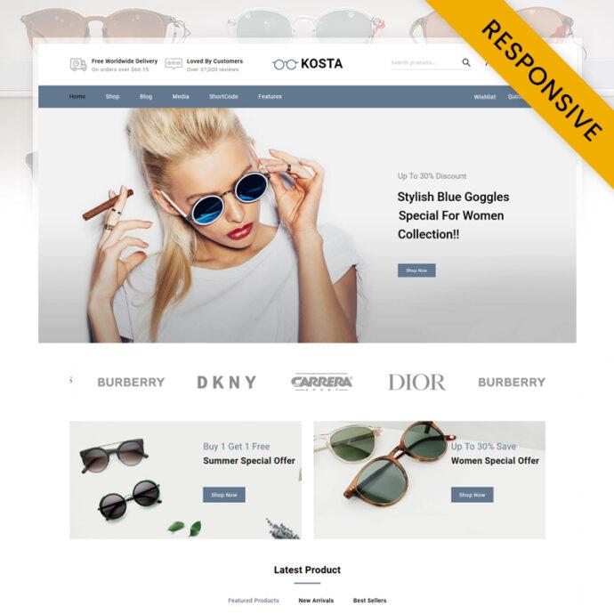 Kosta - Goggles Store Opencart Responsive Theme