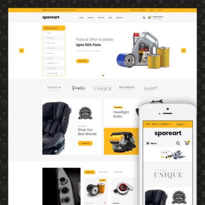 Sparearts - AutoParts Store Prestashop Theme