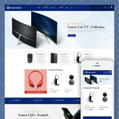 Automatic Electronics Store Prestashop Theme