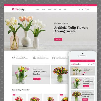 Flowdop - Flowers Market Prestashop Theme