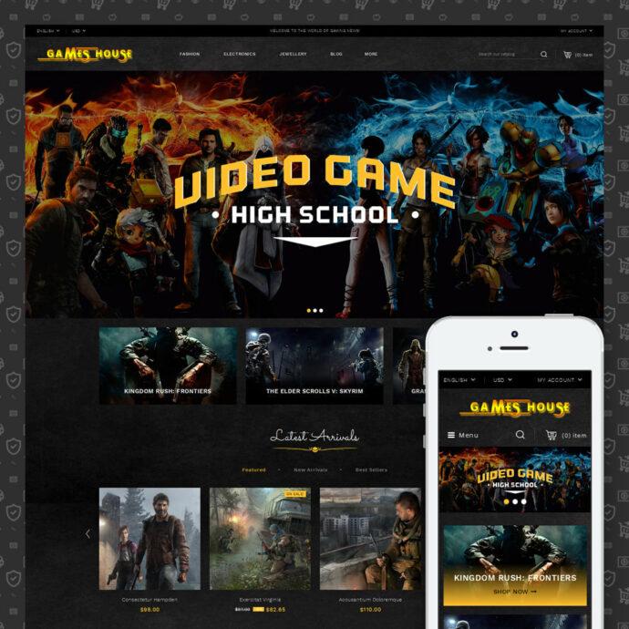 Video Game Store Template Prestashop Theme