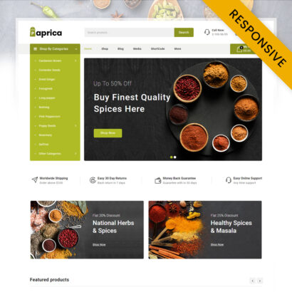 Paprica Spice Food Store WooCommerce Responsive Theme