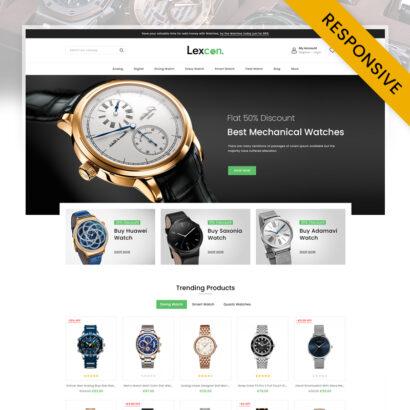 Lexcon Digital Watch Store Prestashop Responsive Theme