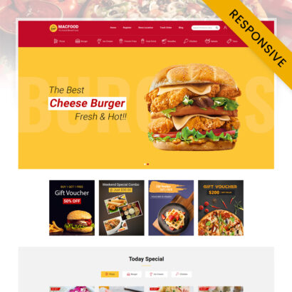 MacFood - Online Food Ordering Opencart Responsive Theme