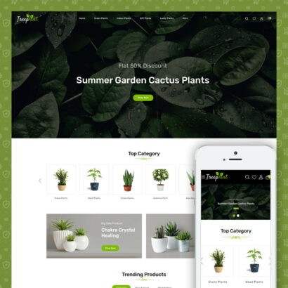 TreePlant - Garden Plant Store Prestashop Template